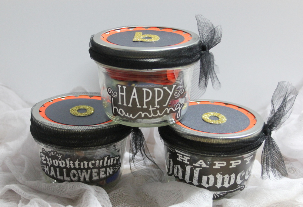 DIY Halloween Candy Jars gift by mambi Design Team member Candi Billman | me & my Big ideas