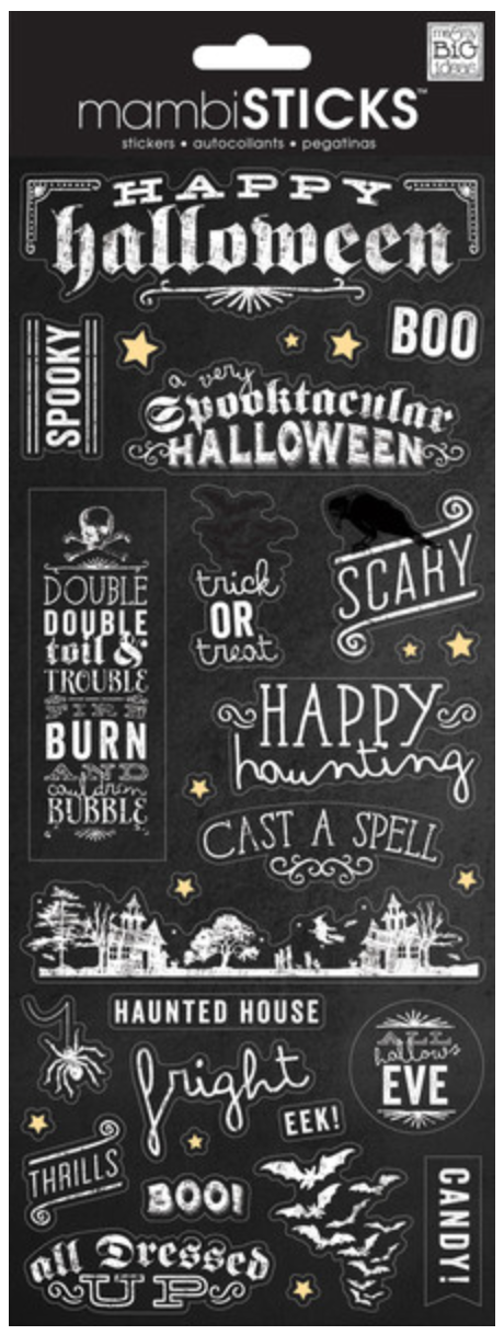 'Happy Halloween' mambiSTICKS stickers | me & my BIG ideas