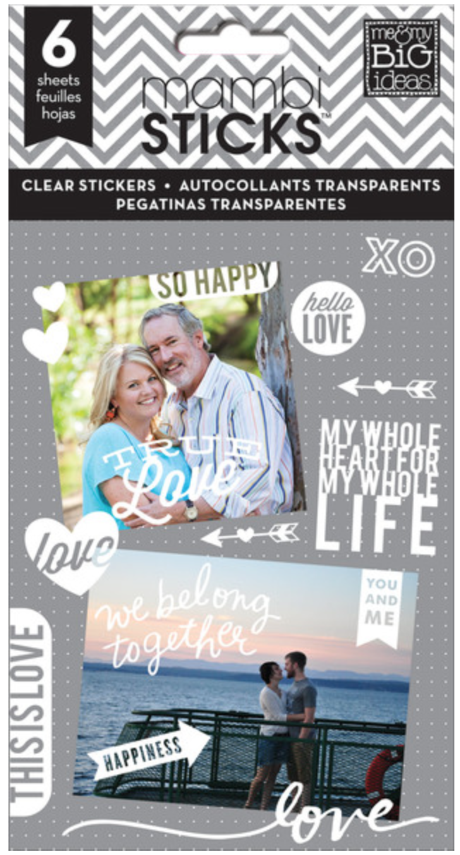 'So Happy' white mambiSTICKS clear stickers | me & my BIG ideas