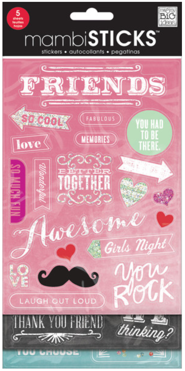 'Friends' Chalkboard Value Pack mambiSTICKS | me & my BIG ideas