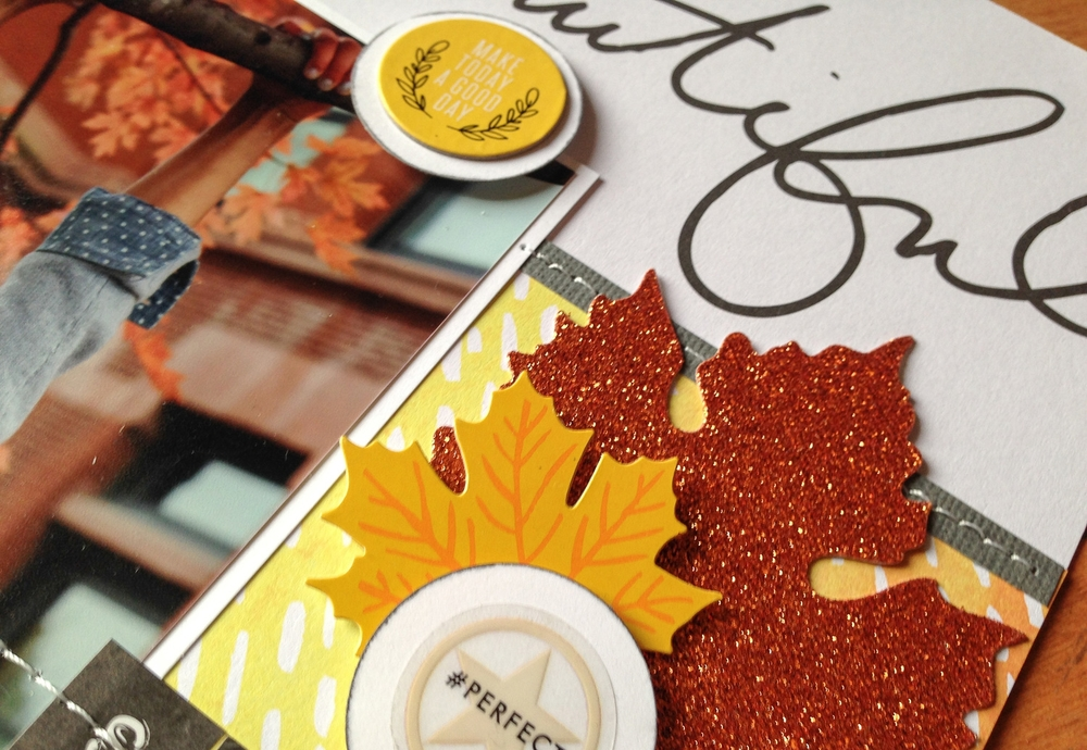 'Hello Beautiful' Fall Scrapbook Page by mambi Design Team member Latrice Murphy | me & my BIG ideas