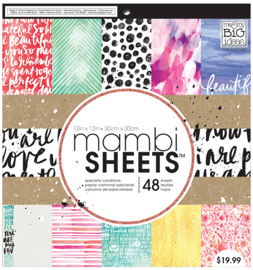 Paint Palette 12 x 12 mambiSHEETS paper pad | me & my BIG ideas