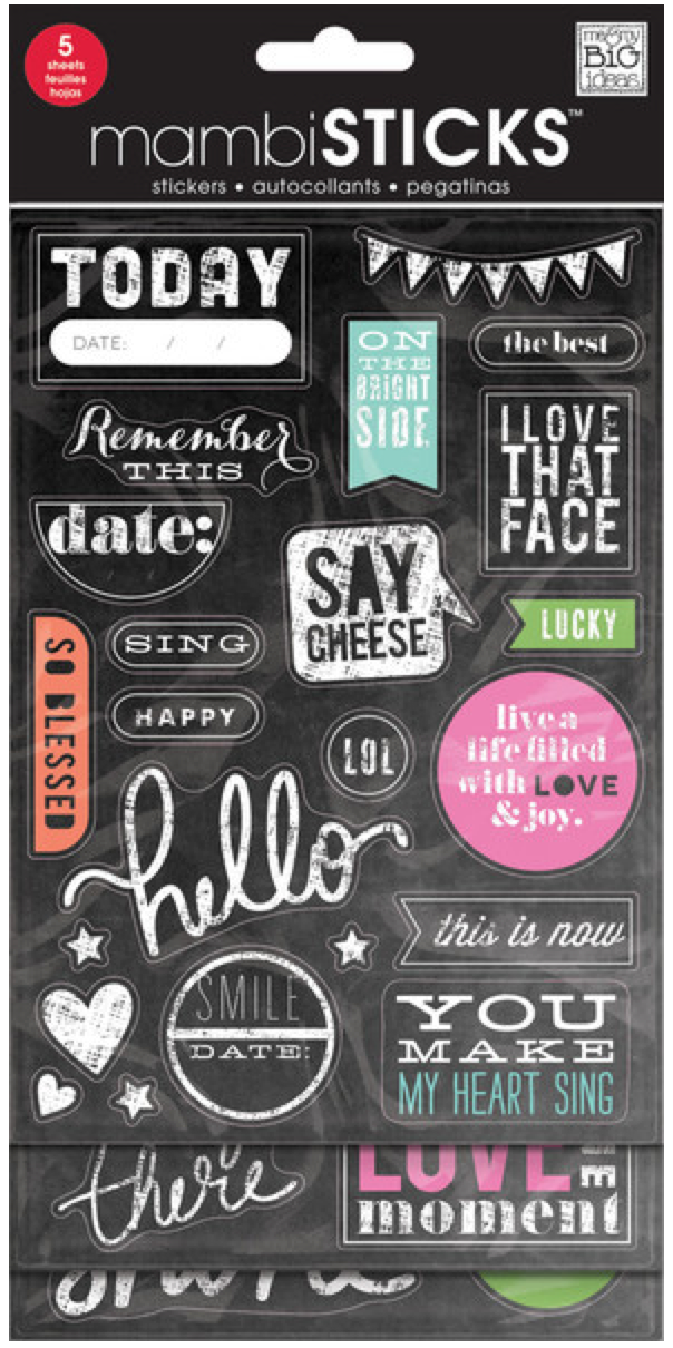 'Today' Chalkboard Value Pack mambiSHEETS sticker pack | me & my BIG ideas