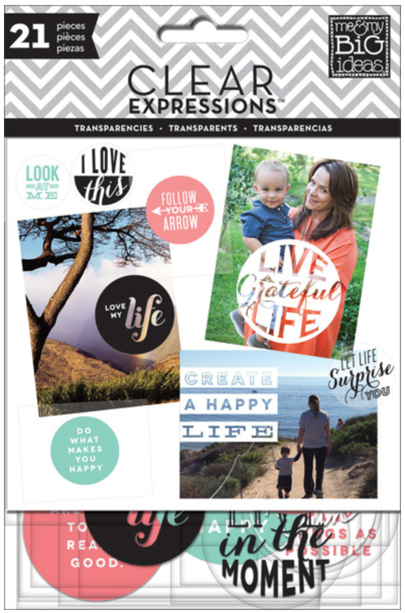 'Create a Happy Life' Clear Expressions transparencies | me & my BIG ideas