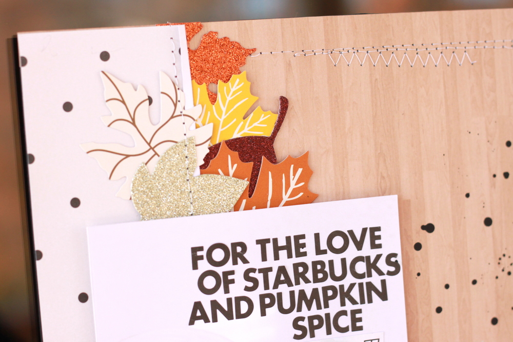 'For the Love of Starbucks' Scrapbook Page by mambi Design Team member Heather Adams | me & my BIG ideas