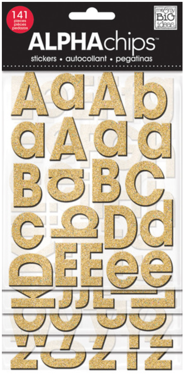 'Avant Garde' ALPHAchips alphabet stickers | me & my BIG ideas