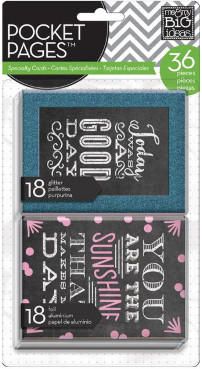'Today was a Good Day' POCKET PAGES™ specialty cards | me & my BIG ideas