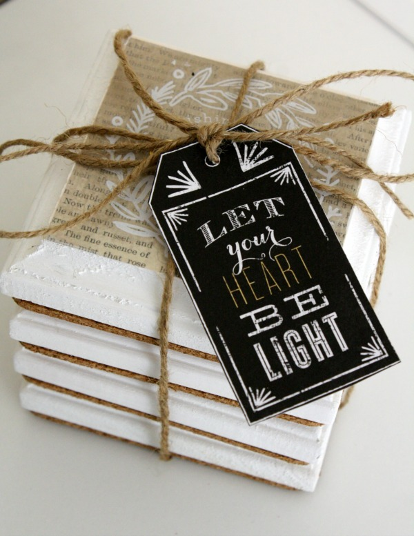 Christmas Coasters by mambi Design Team member Jen Randall | me & my BIG ideas