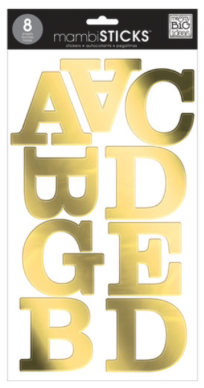 Gold Foil mambiSTICKS jumbo alphabet stickers | me & my BIG ideas