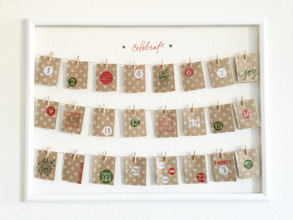 Diy holiday decor framed advent calendar me my big ideas for Diy christmas advent calendar ideas