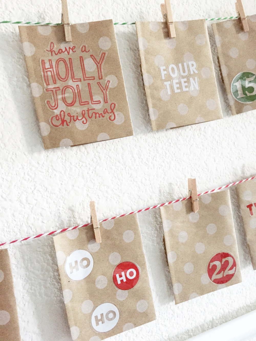 Framed Advent Calendar by mambi Design Team member Theresa Doan | me & my BIG ideas