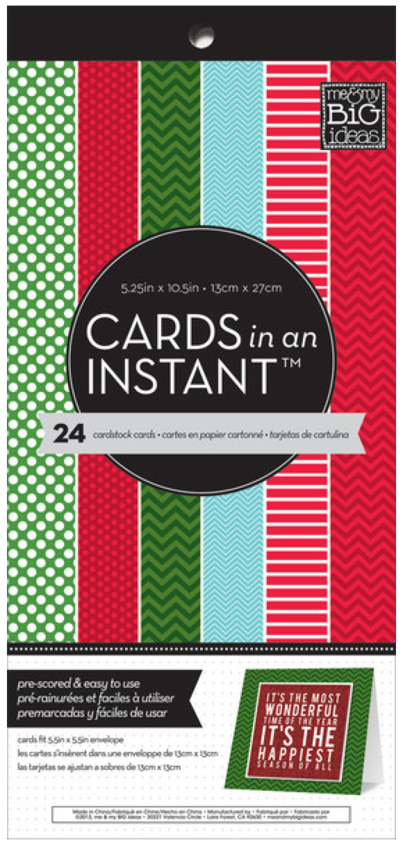 Festive Holiday Mix CARDS in an INSTANT™ paper pad | me & my BIG ideas