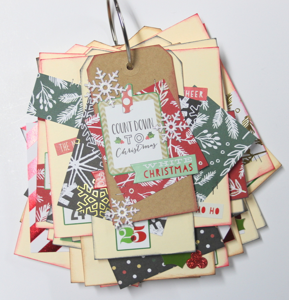 'Countdown to Chistmas' mini book by mambi Design Team member Candi Billman | me & my BIG ideas