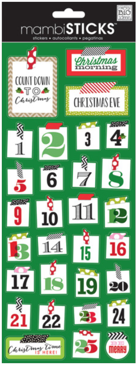 'Christmas Washi Numbers' mambiSTICKS holiday stickers | me & my BIG ideas
