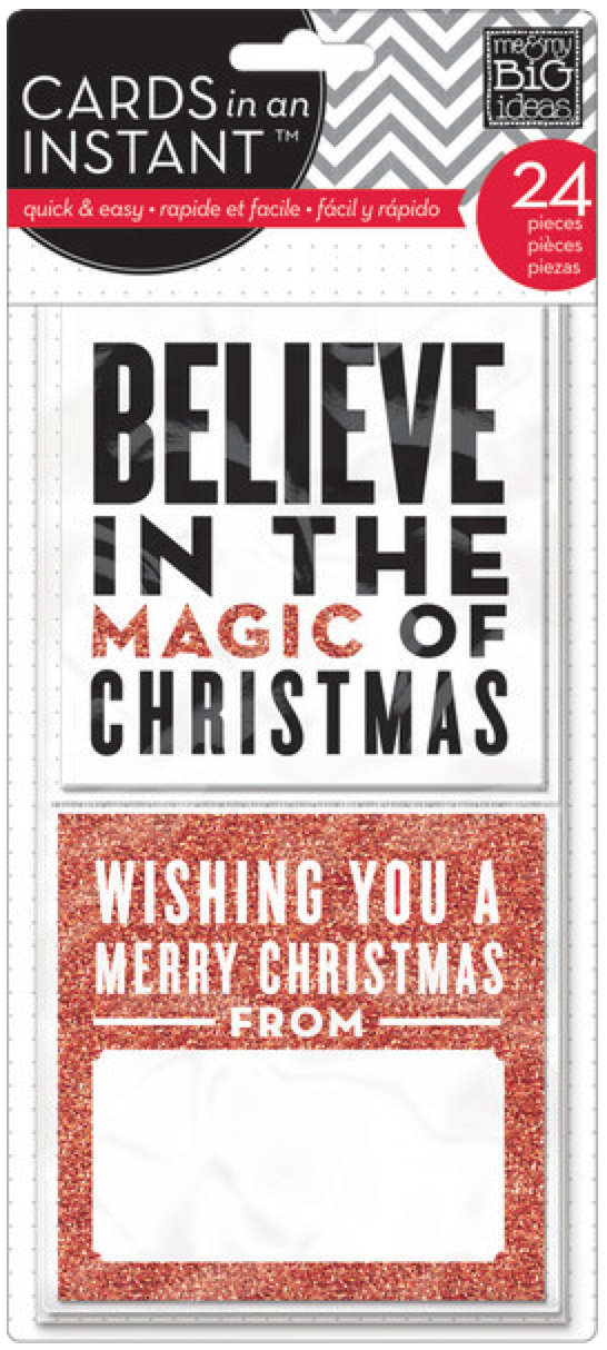 'Believe in the Magic of Christmas' CARDS in an INSTANT™ | me & my BIG ideas