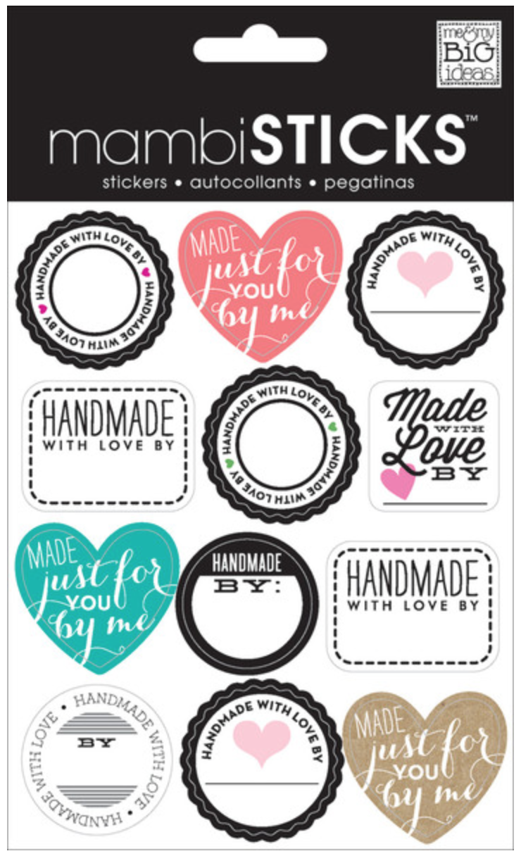 'Handmade with Love' mambiSTICKS | me & my Big ideas