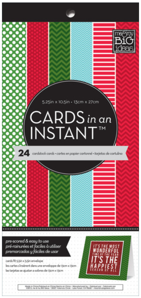 'Festive Holiday Mix' CARDS in an INSTANT™ scored paper pad | me & my BIG ideas