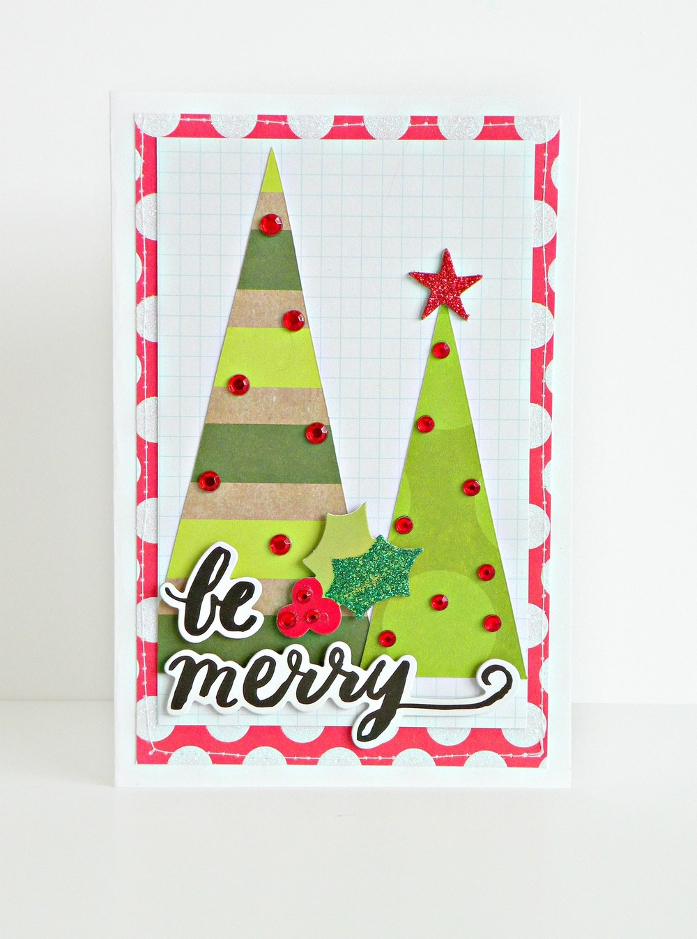 card-making | \'be merry\' Christmas card — me & my BIG ideas