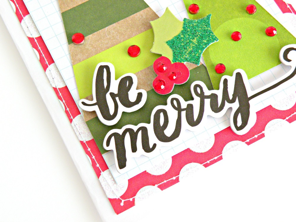 'Be Merry' Christmas Card by mambi Design Team member Stephanie Buice | me & my BIG ideas