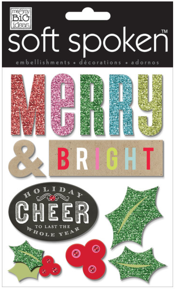 'Merry & Bright' SOFT SPOKEN™ holiday stickers | me & my BIG ideas