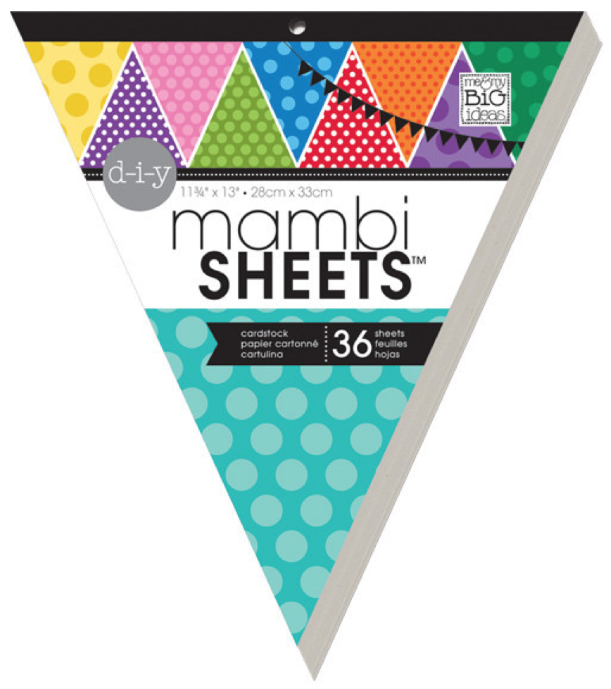 'Primary Polka Dot' mambiSHEETS Banner Pad | me & my BIG ideas