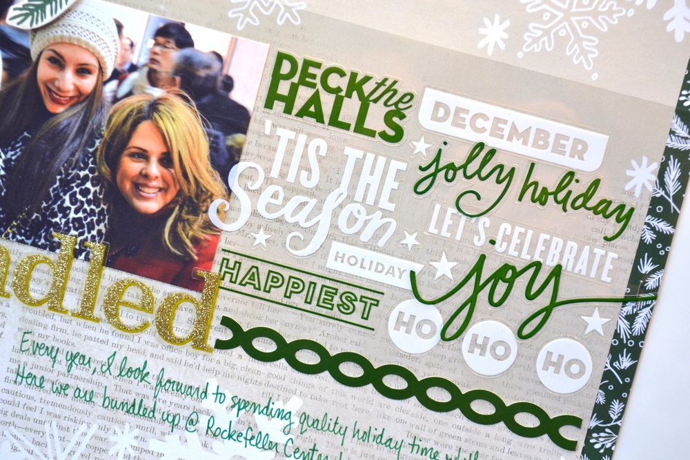 'bundled bffs' holiday scrapbook page | me & my BIG ideas