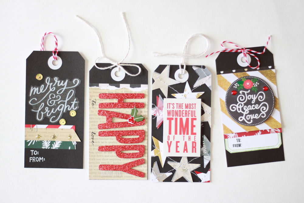 DIY Holiday Gift Tags by mambi Design Team member Heather Adams | me & my BIG ideas
