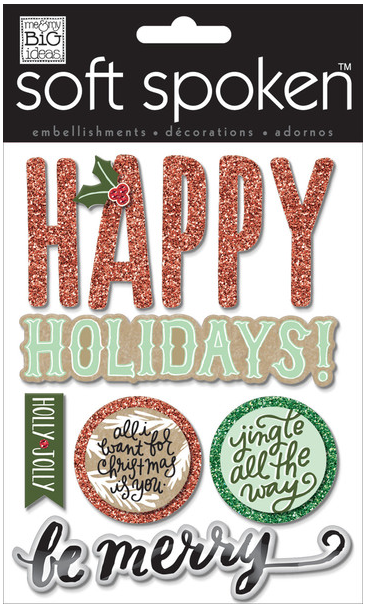 Jingle All The Way SOFT SPOKEN™ holiday stickers | me & my BIG ideas