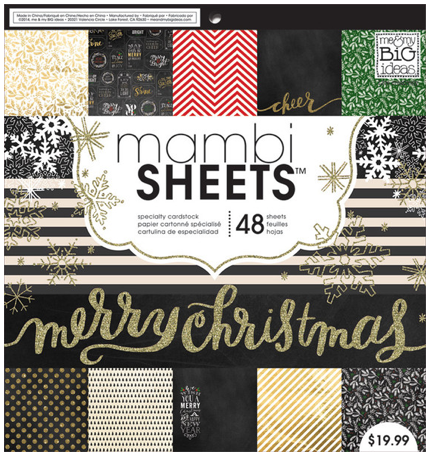 'All That Glitters' 12x12 Christmas mambiSHEETS holiday paper pad | me & my BIG ideas