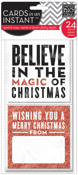 'Believe in the Magic of Christmas' CARDS in an INSTANT™ pack | me & my BIG ideas