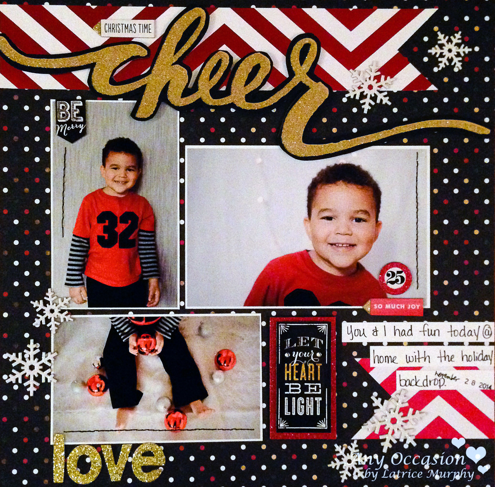 'Christmas Time Cheer' scrapbook page by mambi Design Team member Latrice Murphy | me & my BIG idea