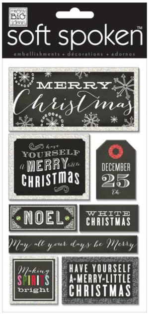 Merry Christmas Chalkboard SOFT SPOKENTM