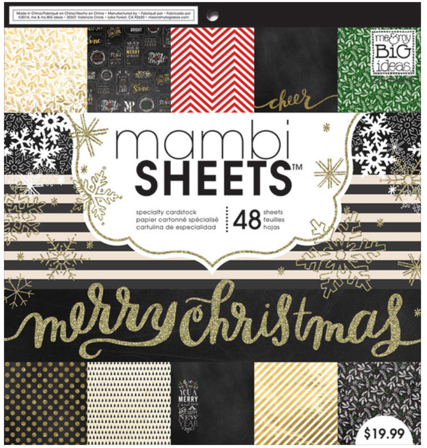 'All That Glitters' 12x12 Christmas mambiSHEETS paper pad | me & my BIG ideas