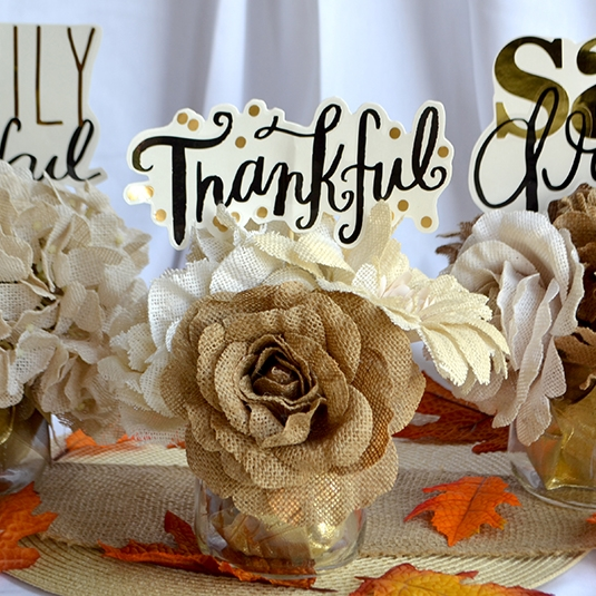 Thanksgiving Centerpieces using jumbo mambiSTICKS