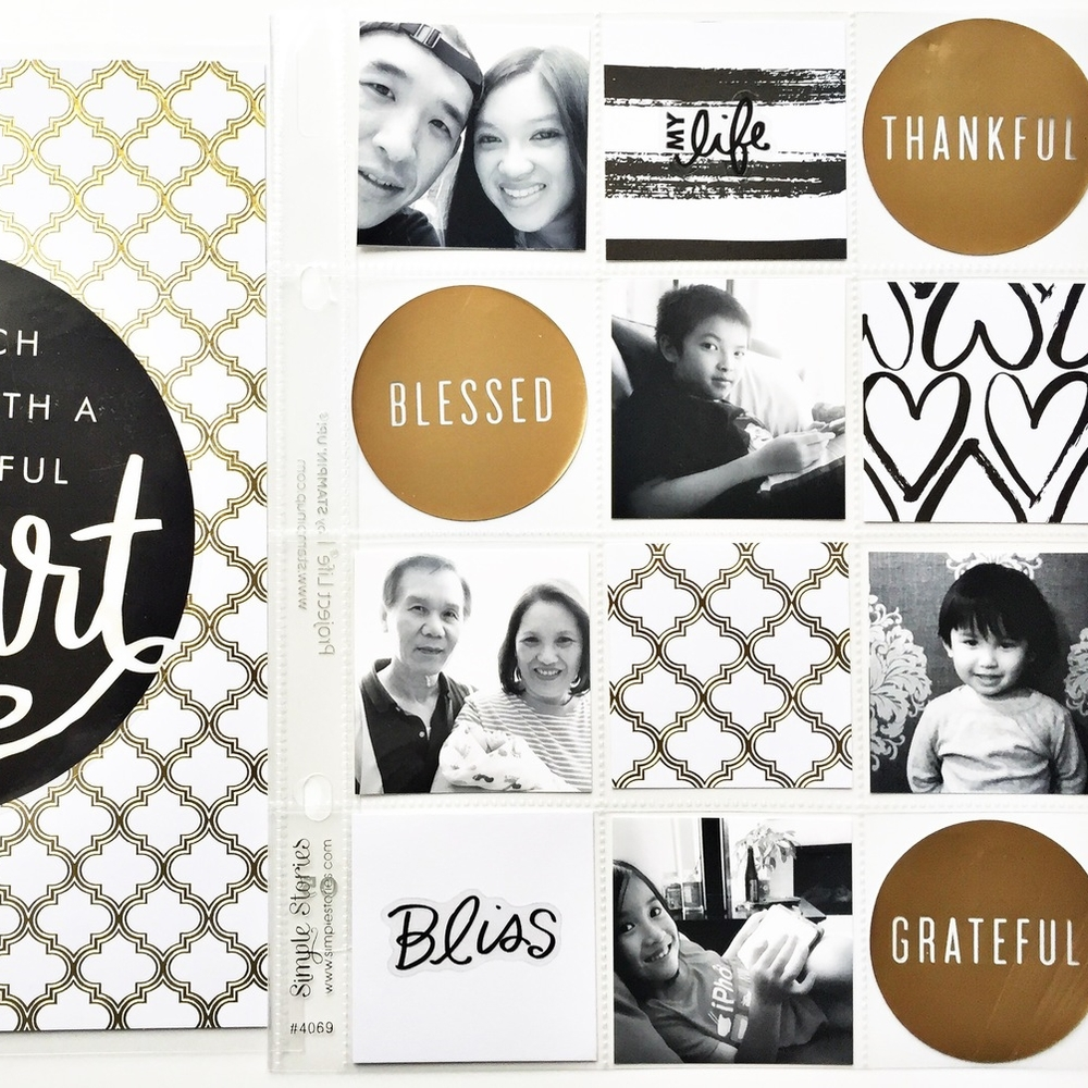 'Grateful Heart' POCKET PAGES™ layout