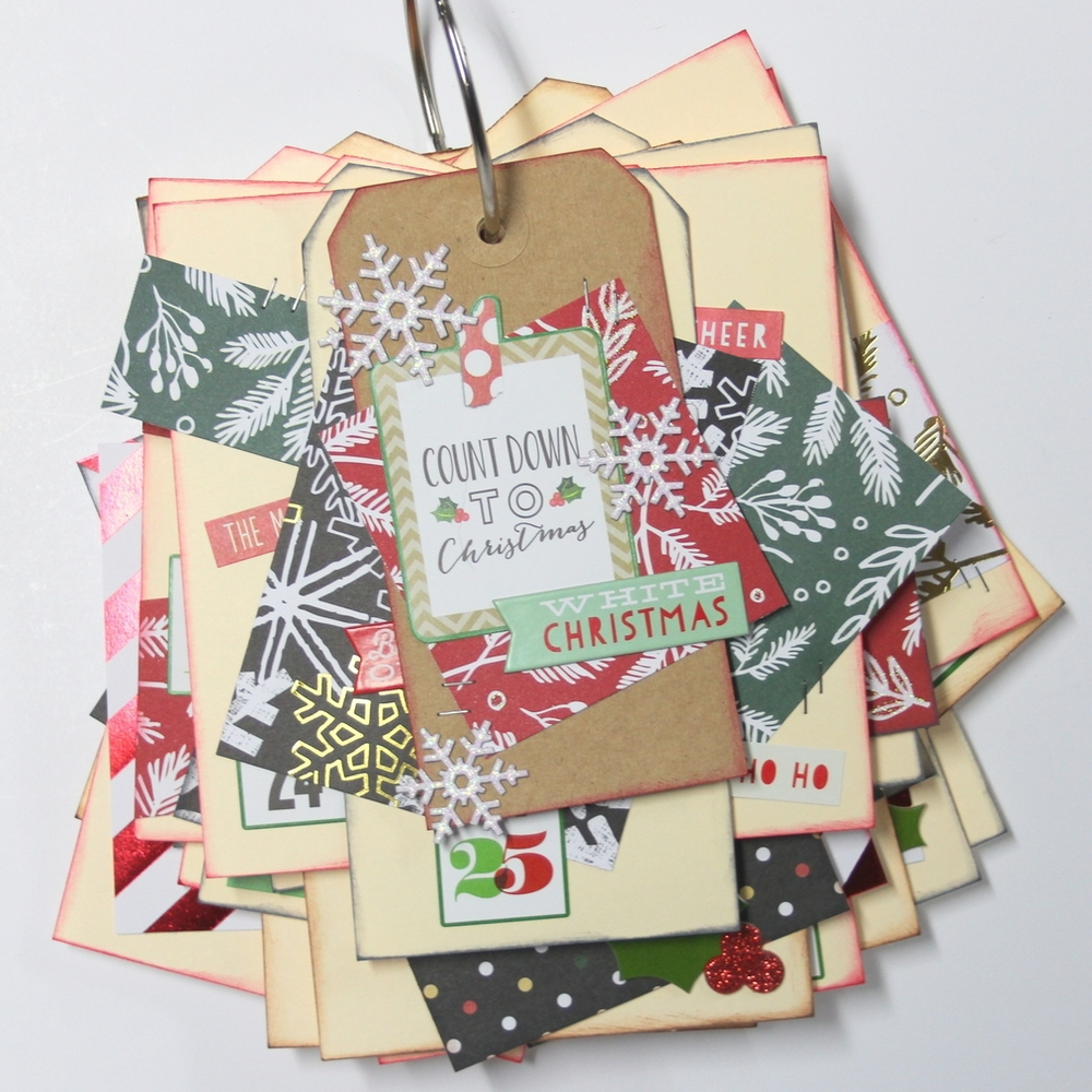 'Countdown to Christmas' mini flip book