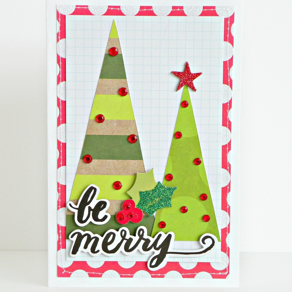 'be merry' Christmas card using new SOFT SPOKEN™