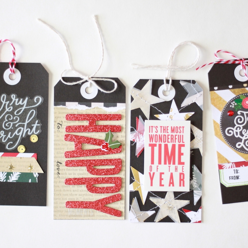Christmas gift tags using mambiSTICKS
