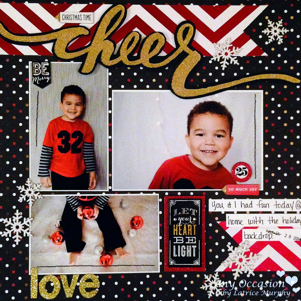 'Christmas Time Cheer' scrapbook page