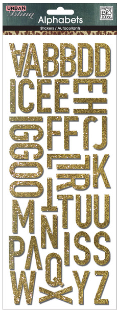 Gold Glitter Urban Bling mambiSTICKS | me & my BIG ideas