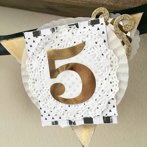 New Year 2015 Black White & Gold Banner by mambi Desiign Team member Jen Randall | me & my Big ideas