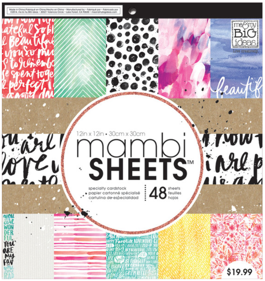 Paint Palette 12x12 mambiSHEETS paper pad | me & my BIG ideas