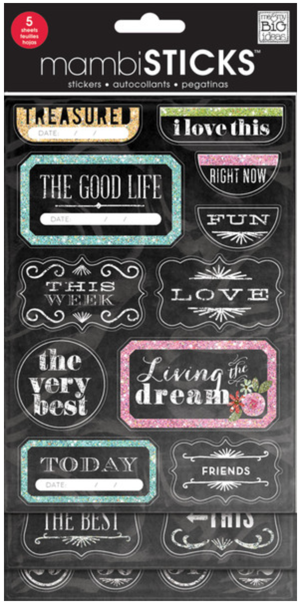 'The Good Life' Chalkboard mambiSTICKS value pack | me & my BIG ideas