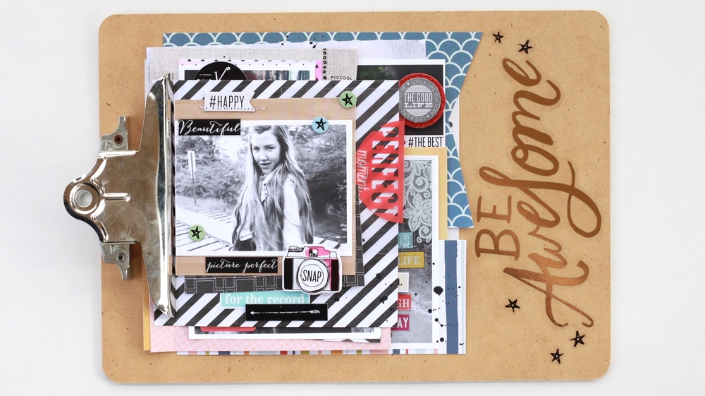 mini clipboard book 'Be Awesome' by mambi Design Team member Heather Adams | me & my BIG ideas
