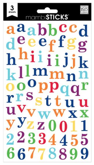Lowercase Primary Alphabet mambiSTICKS stickers | me & my BIG ideas