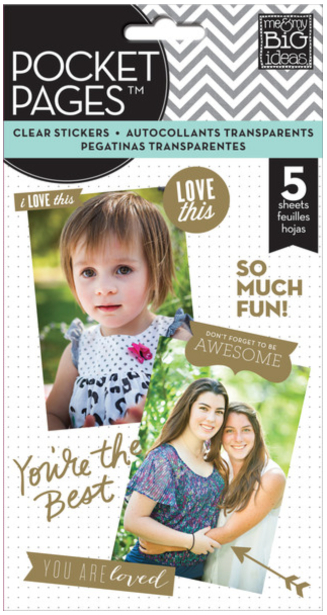 Gold Foil POCKET PAGES™ clear stickers | me & my BIG ideas