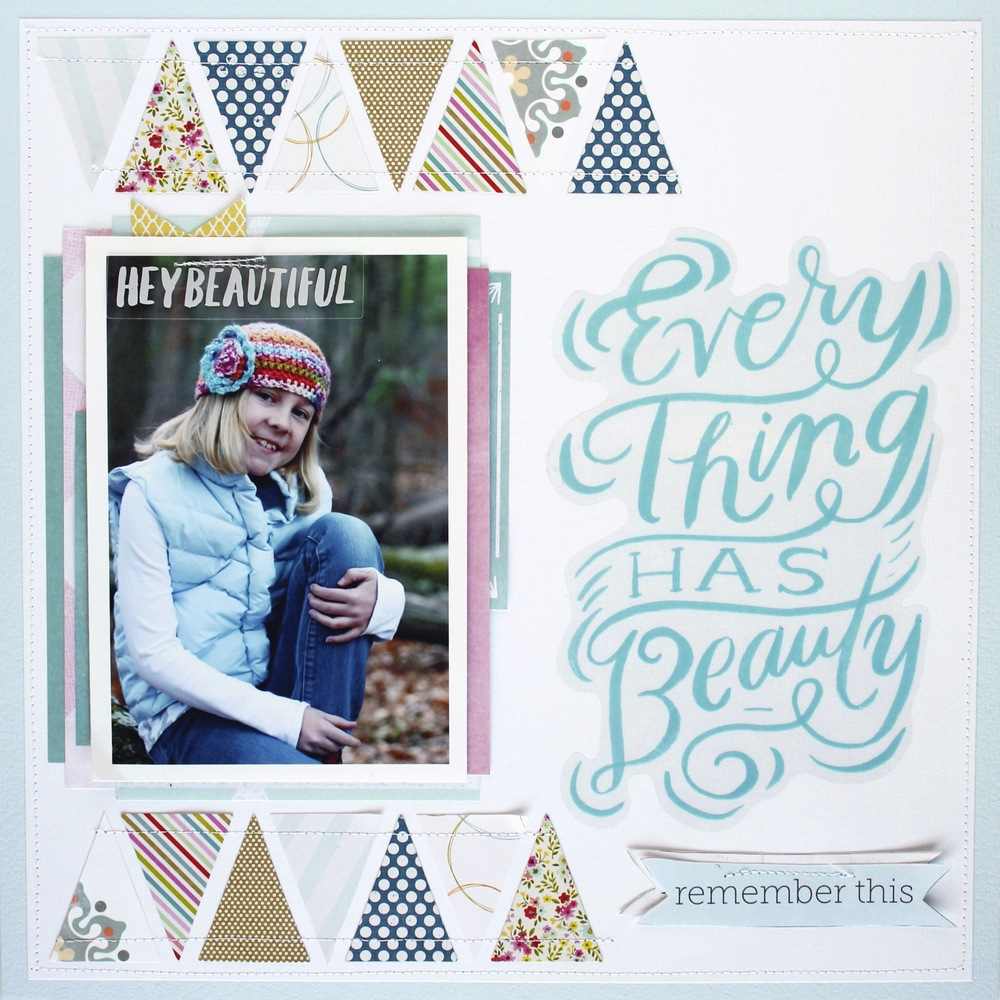 """Everything Has Beauty"" Scrapbook Page by mambi Design Team member Mary-Ann Maldonado 