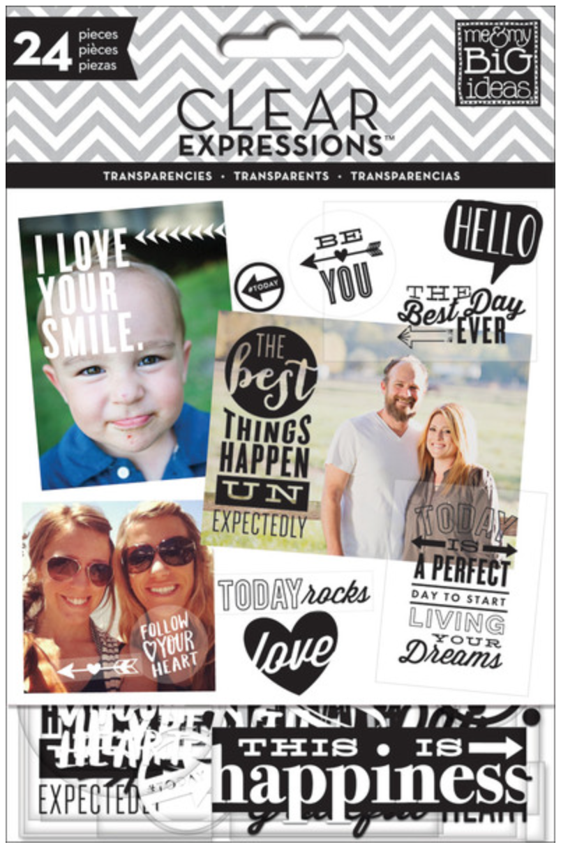 Black & White ClearExpressions Transparencies | me & my Big ideas