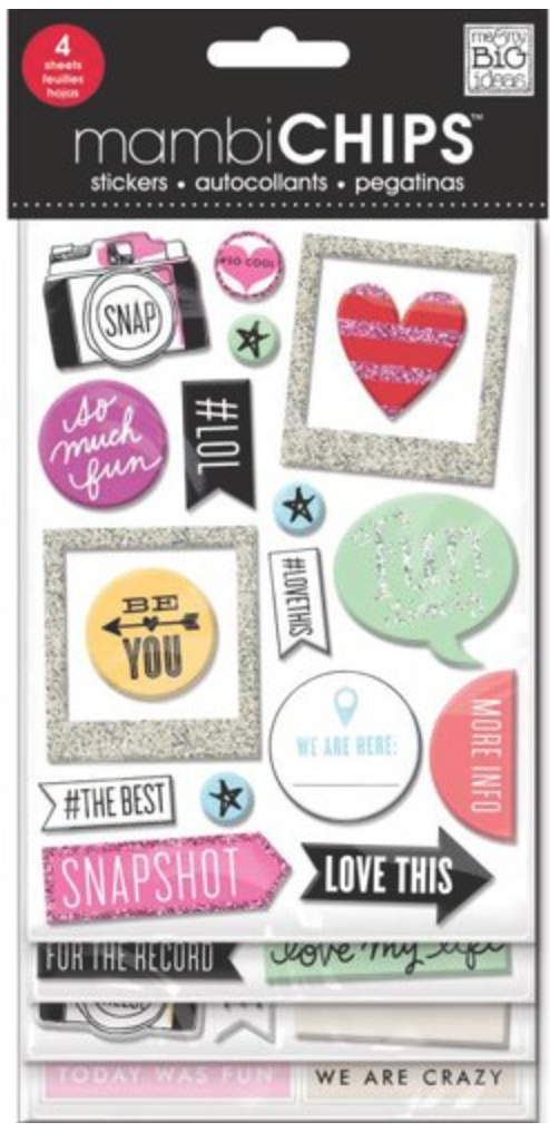 'Insta Love' mambiCHIPS chipboard stickers | me & my BIG ideas