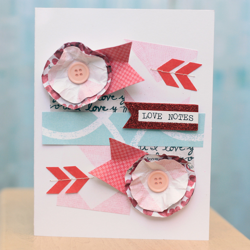 Valentine's Day card for #mambiREDandPINK instgram challenge by mambi Design Team member April Orr | me & my BIG ideas